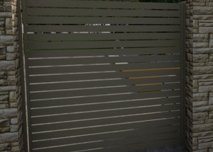 Slat panel single gate